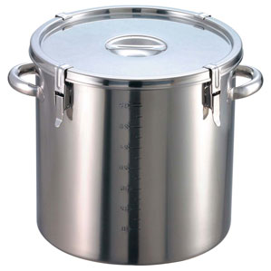 【送料無料】EBM 18-8 パッキン寸胴鍋 目盛付 33cm 手付 0048100