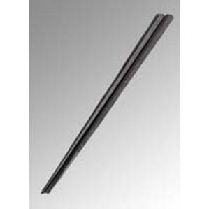 Reプラ五角箸 23cm 黒 PPS製 5437900