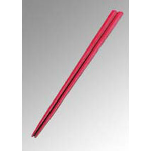 Reプラ五角箸 23cm 赤 PPS製 5438000