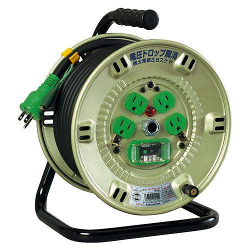 【送料無料】日動工業 極太 3.5(mm2)電線仕様ドラム 20m NP-EB24F