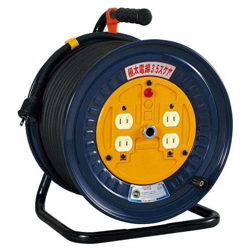 【送料無料】日動工業 極太 3.5(mm2)電線仕様ドラム 50m NDN-504F