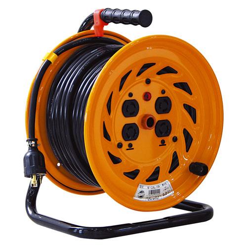 【送料無料】日動工業 ロック(引掛)式ドラム 30m NF-E34L-15A