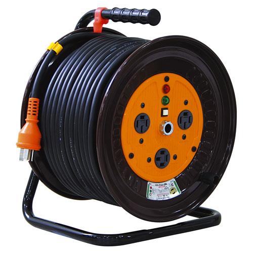 送料無料 追加で何個買っても同梱0円 日動工業 価格 NDN-E350-20A アイテム勢ぞろい 50m 三相200V一般型ドラム
