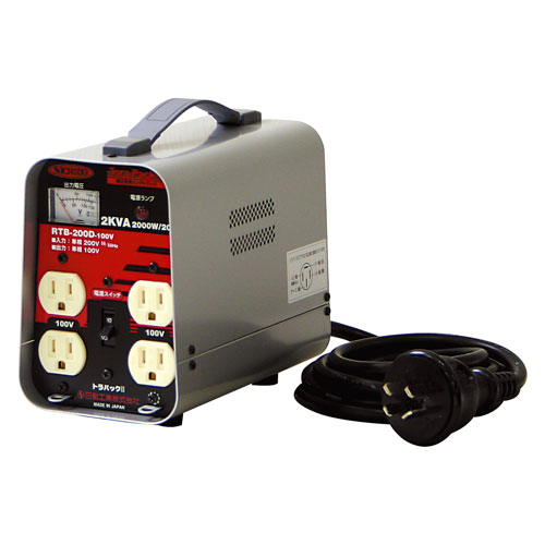 【送料無料】日動工業 降圧専用トランス RTB-200D-100V