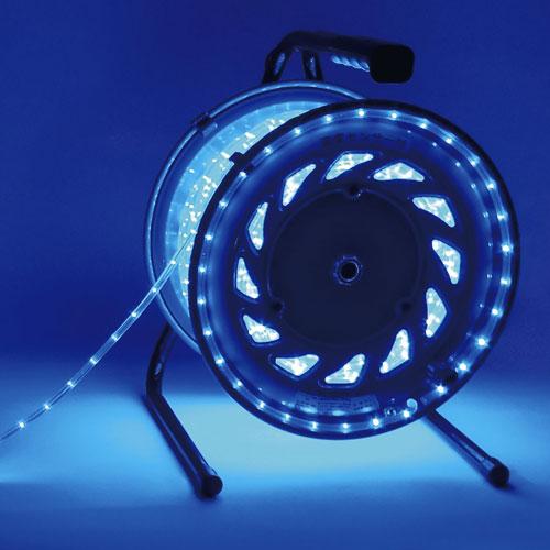 【送料無料】日動工業 防雨型LEDラインチューブドラム 青 RLL-50S-B