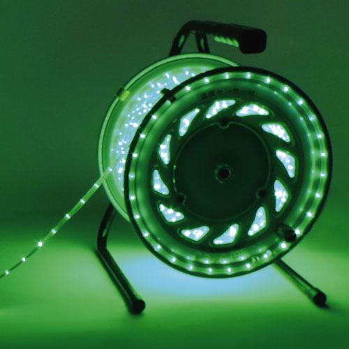 【送料無料】日動工業 防雨型LEDラインチューブドラム 緑 RLL-30S-G
