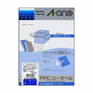 【送料無料】エーワン PPC(コピー)ラベル 透明ツヤ消しフィルムタイプ A4判 ノーカット 27003