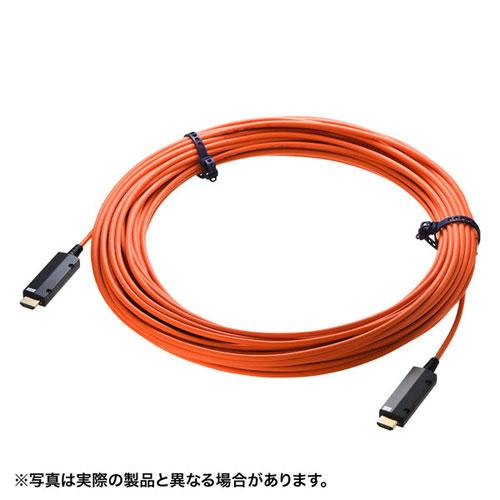 【送料無料】サンワサプライ HDMI2.0 光ファイバケーブル 15m KM-HD20-PFB15