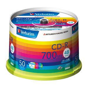 Verbatim バーベイタム データ用CD-R 48倍速対応 ホワイト 50枚 SR80SP50V1