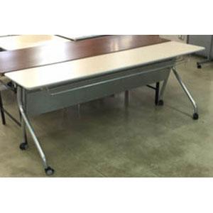 【送料無料】【メーカー直送】不二貿易 折り畳み会議テーブル ナチュラル FMT1845 11646【smtb-u】