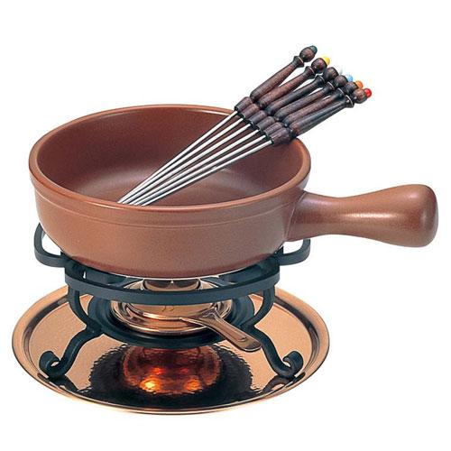 【送料無料】新光金属 チーズフォンデュセット T-200 陶器鍋付 3262400