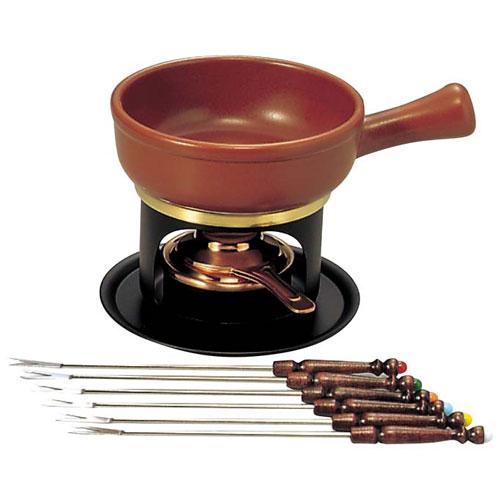 【送料無料】新光金属 ミニ チーズフォンデュセット T-100 陶器鍋付 3262600