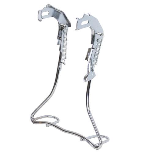 昭和インダストリーズ 外装正爪両立スタンド アシストステップ付 クロムメッキ 20インチ用 W-03AL 409-03045