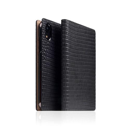 【お試し送料無料】SLG Design エスエルジーデザイン iPhone 6.1/iPhone XR Lizard Case ブラック SD13697i61【smtb-u】