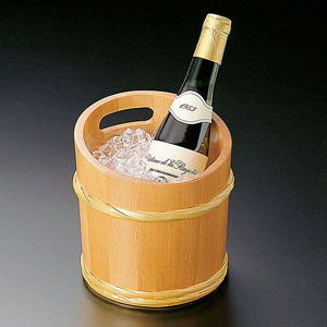 【送料無料】ヤマコー 椹・竹型ワインクーラー 12332