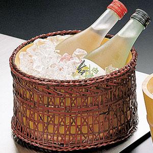 【送料無料】ヤマコー 椹・冷酒クーラー 篭付 12655