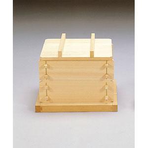 【送料無料】ヤマコー 檜・角セイロセット 身2段 蓋・敷板・竹ス 22102【受注生産品】
