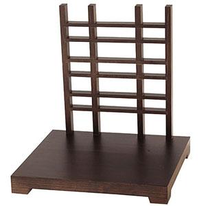 【送料無料】ヤマコー 木製ディスプレイスタンド 古美色 格子タイプ 43476