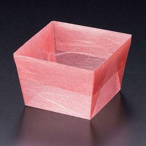 【送料無料】ヤマコー OP珍味小箱62角(7寸/9割用)紅梅雲竜200枚入 66654