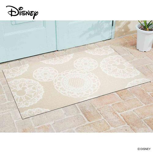 【送料無料】【メーカー直送】クリーンテックス・ジャパン Disney Mat Collection ディズニー 玄関マット Mickey ミッキー レース ベージュ 75 × 120 cm BK00015【smtb-u】