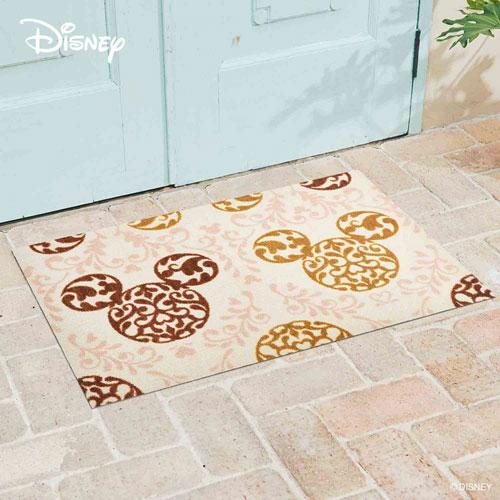 【送料無料】【メーカー直送】クリーンテックス・ジャパン Disney Mat Collection ディズニー 玄関マット Mickey ミッキー ロココ調 ブラウン 75 × 120 cm BK00033【smtb-u】