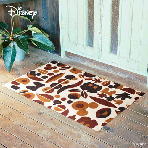 【送料無料】【メーカー直送】クリーンテックス・ジャパン Disney Mat Collection ディズニー 玄関マット Mickey ミッキー&ミニー モチーフ ブラウン 75 × 120 cm BK00036【smtb-u】