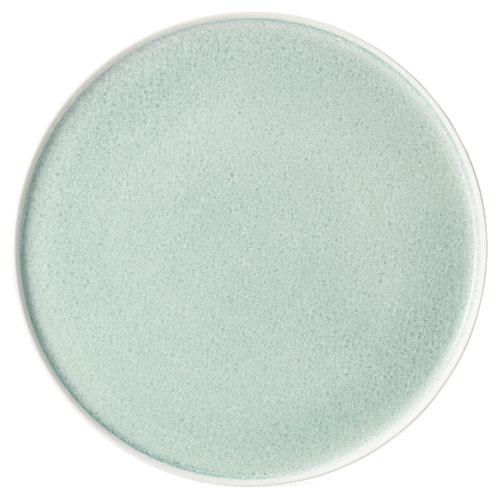 【クーポンで25%値引き】【送料無料】さく 咲 切立プレート 27.5cm グリーン 2枚セット 【隠れ窯 結晶釉】