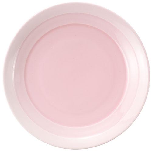 【クーポンで30%値引き】【送料無料】翠 ラウンドプレート 22cm ピンク MJ118-459PK 4枚セット