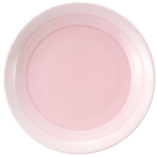 【クーポンで30%値引き】【】翠 ラウンドプレート 19cm ピンク MJ118-460PK 4枚セット【smtb-u】