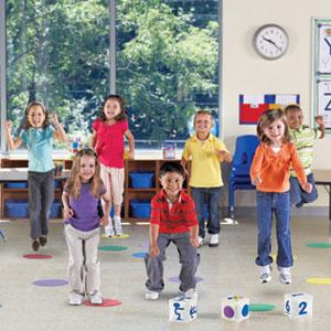 【送料無料】Learning Resources Ready, Set, Move(TM) Classroom Activity Set 体を動かそう!クラスルーム アクティビティセット LER 1883