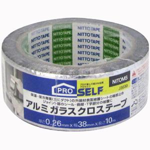 【送料無料】【メーカー直送】ニトムズ アルミガラスクロステープ 38mm×10M J3030 24巻入
