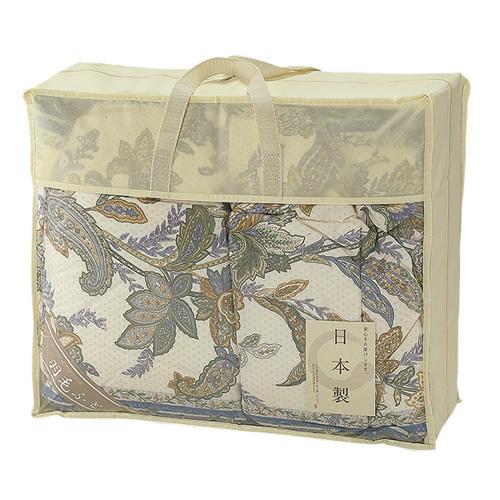 【送料無料】【メーカー直送】日本製 羽毛ふとん ブルー NUF-2740