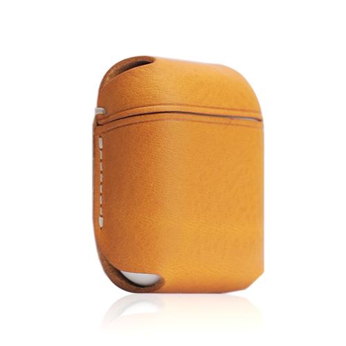 【送料無料】SLG Design エスエルジーデザイン AirPods専用 Minerva Box Leather Case タン SD11852AP