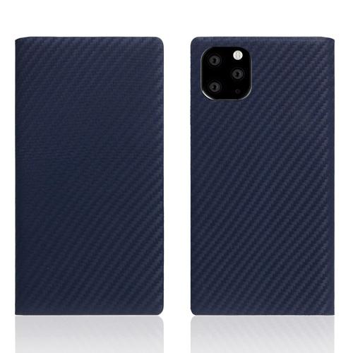 【送料無料】SLG Design iPhone 11 Pro Max 背面カバー型 carbon leather case ネイビー SD17941i65R▽▼