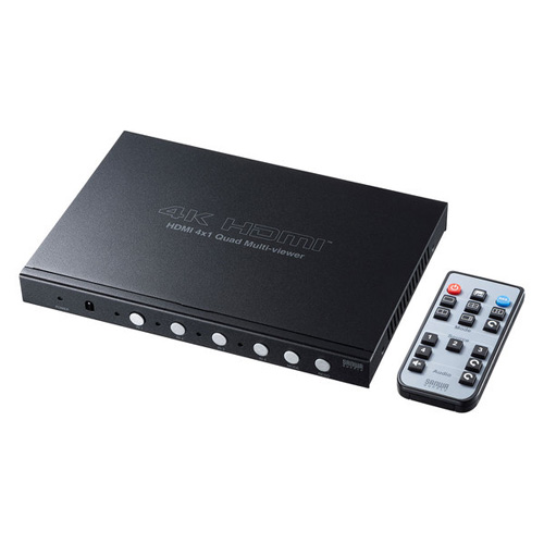 【送料無料】サンワサプライ 4入力1出力HDMI画面分割切替器 4K対応 SW-UHD41MTV