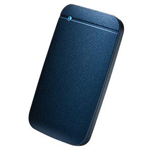 【送料無料】エレコム ELECOM USB Type-Cケーブル付き 外付け ポータブル SSD 1TB ネイビー ESD-EF1000GNV