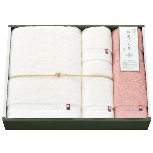 【送料無料】日繊商工 綿菱 タオルセット ピンク WB-15005