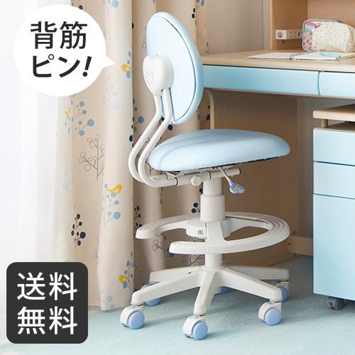 【送料無料】コイズミファニテック 回転ラブリーチェア ライトブルー CDY-574LB