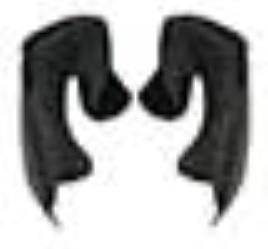 OGK KABUTOオージーケーカブト ヘルメット内装チークパッド KAMUI 3 カムイ チークパッドセット 補修 20mm KAMUI3 KABUTO オプションパーツ サイズ:オプション オージーケーカブト マート 国内在庫