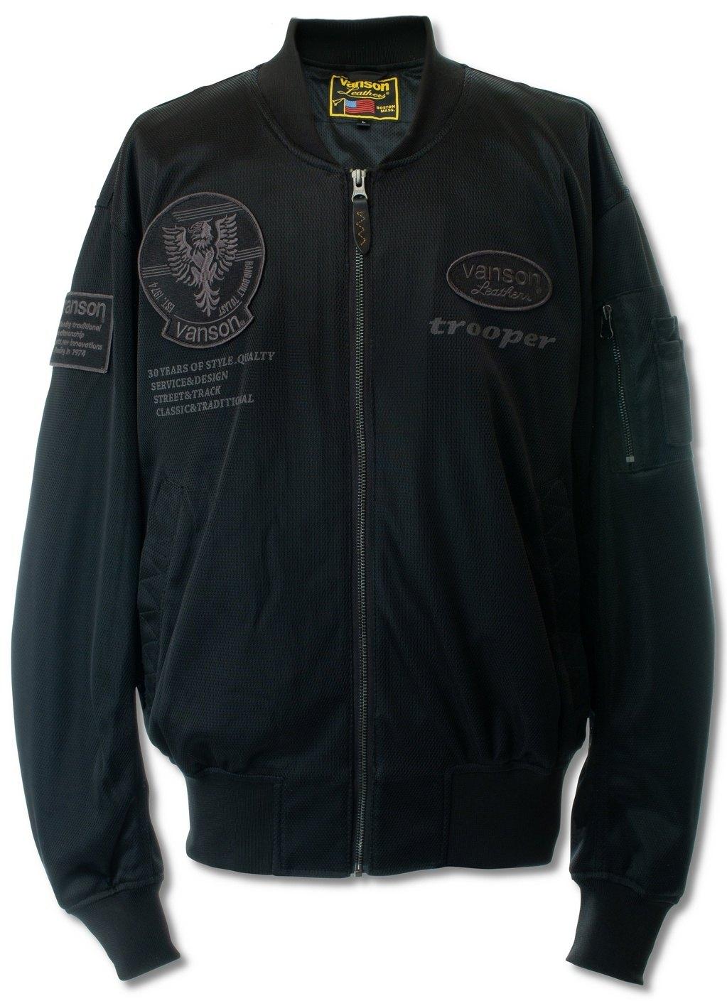 VANSONバンソン メッシュジャケット 日本正規品 メッシュMA-1ジャケット VANSON 春の新作続々 バンソン サイズ:L