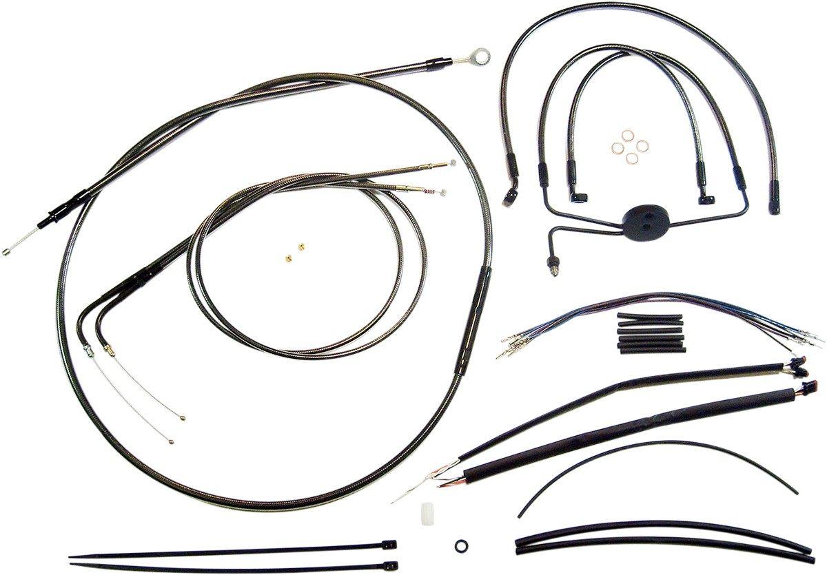 値段が激安 MAGNUM マグナム CONTROL CABLE KIT BP [0610-0990] Dyna Fat Bob (EFI) - FXDF 2012 - 2017 Dyna Low Rider (EFI) -FXDL 2014 - 2017, ナムチェバザール 2ba5cf34