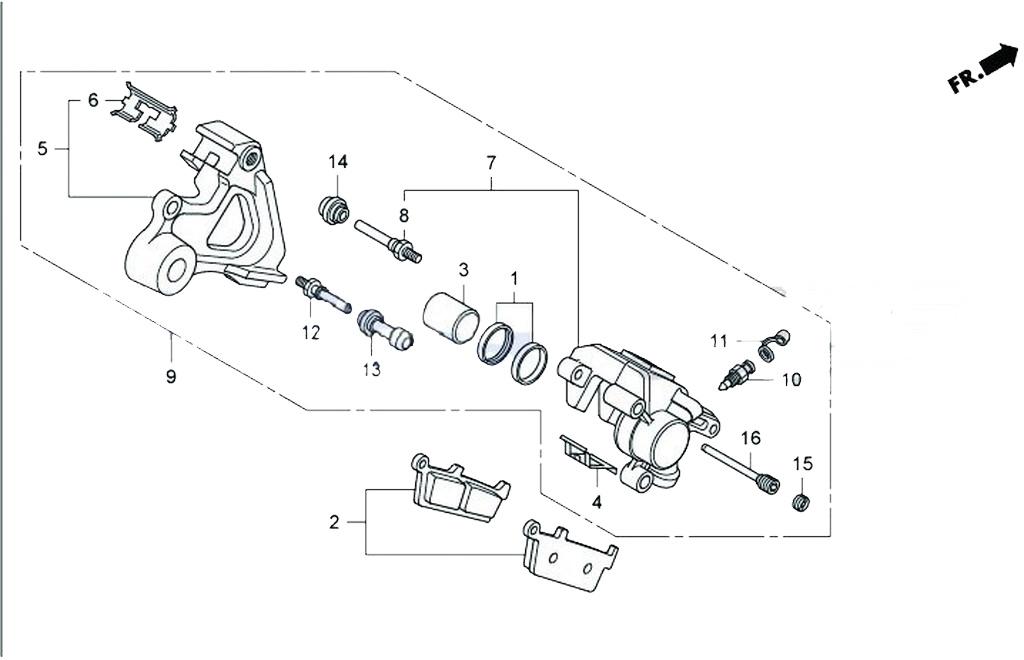 HRC エイチアールシー リアブレーキキャリパー NSF100 NSR-MINI