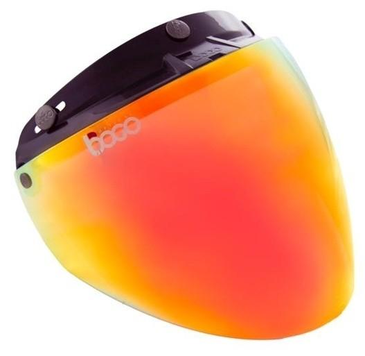 お見舞い 売り出し bogoボゴ ヘルメットシールド ジェットシールド bogo ボゴ カラー:クリスタルオレンジ