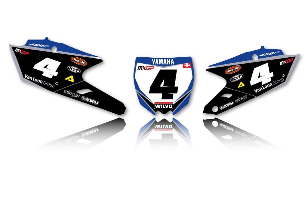 EnjoyMFG エンジョイ ステッカー・デカール Yamaha Wilvo チームデカールフルキット+シートカバー YZF 450