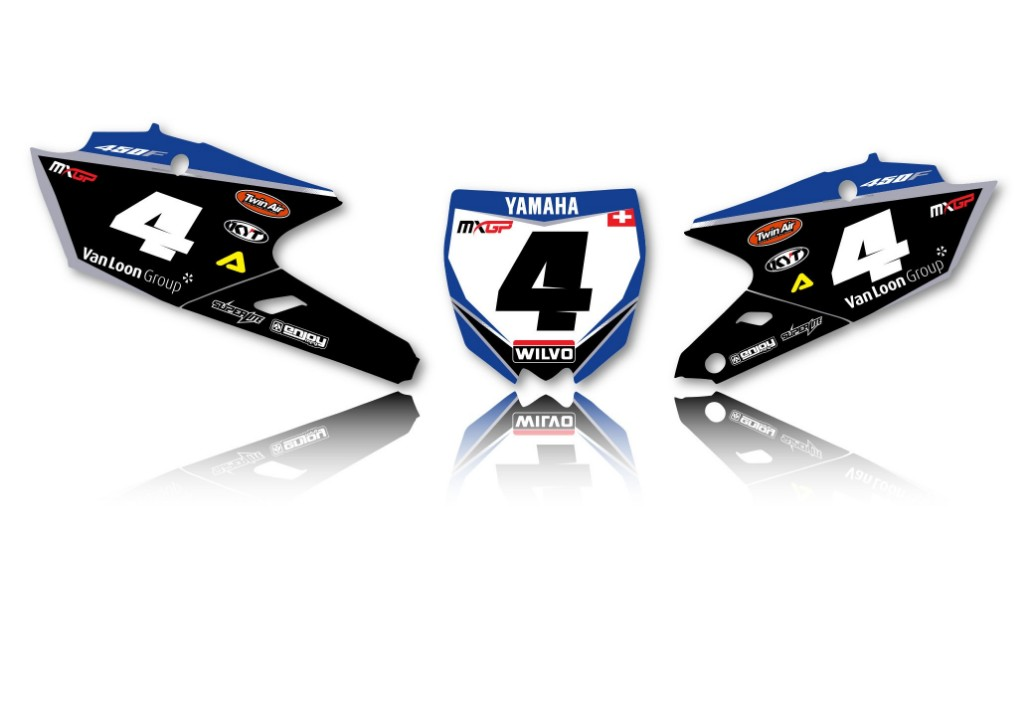 EnjoyMFG エンジョイ ステッカー・デカール Yamaha Wilvo チームデカールフルキット+シートカバー YZF250