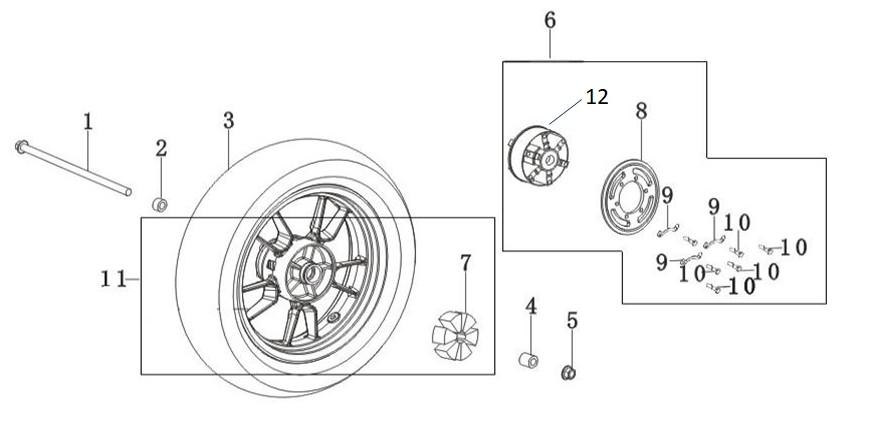 GPX ジーピーエックス Seat sprocket wheel Demon 150GR