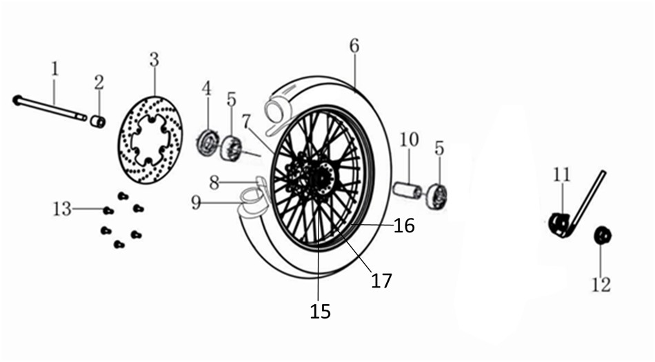 GPX ジーピーエックス Fr. Wheel Rim Legend 150