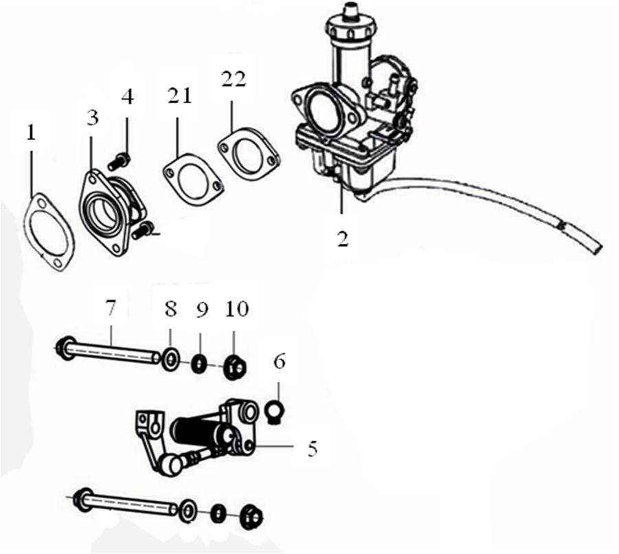 GPX ジーピーエックス Carburetor Legend 150