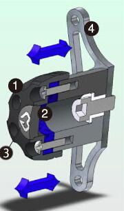 GILLES TOOLING ギルズツーリング IPパッド(フレームスライダー) S1000RR