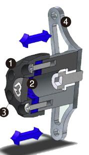 GILLES TOOLING ギルズツーリング IPパッド(フレームスライダー) FZ1FAZER [フェザー] FZ1